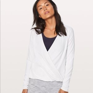 Lululemon Full Freedom long sleeve white shirt